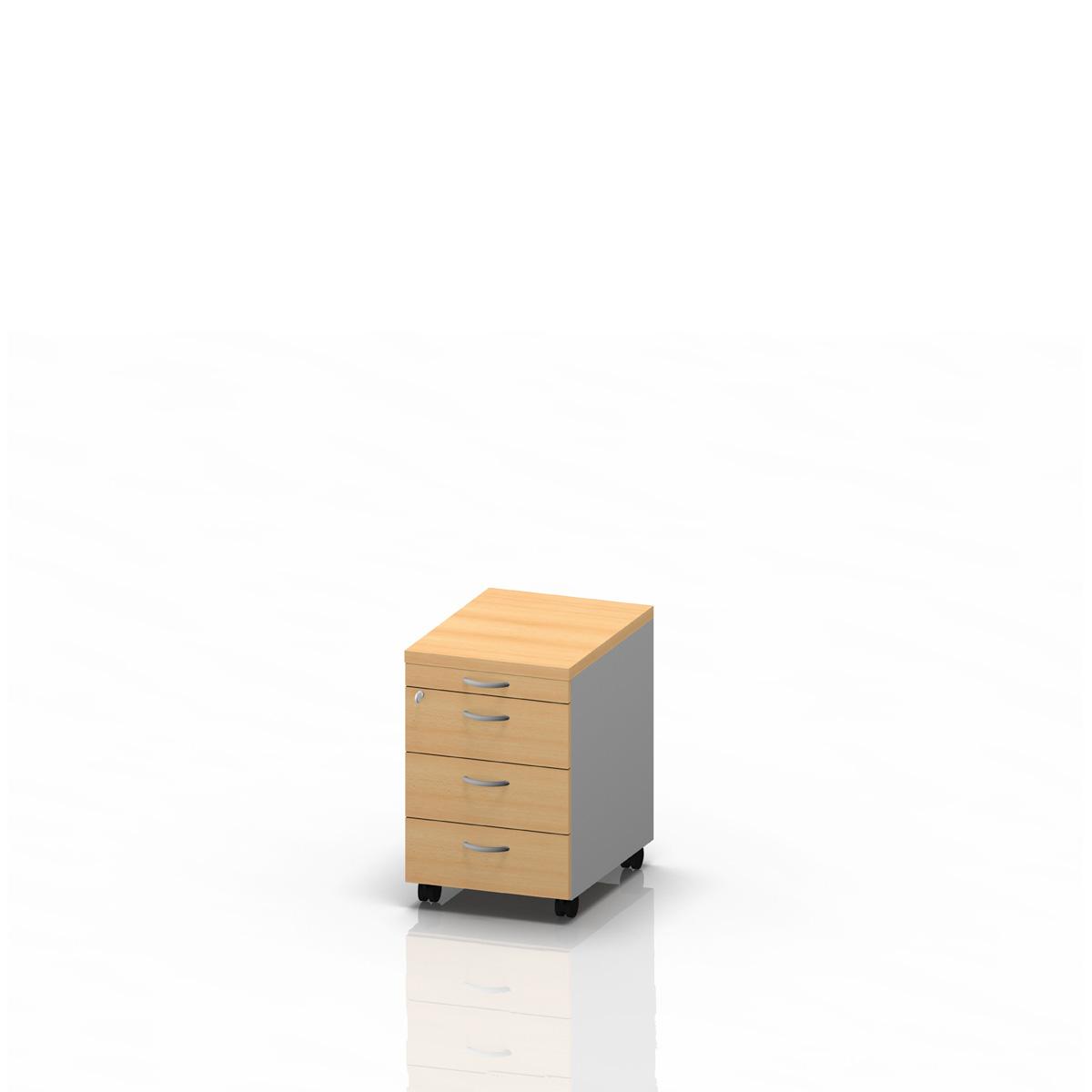 Rollcontainer 3+1, Buche – Schäfer Shop Fundgrube
