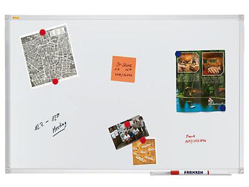 Magnetische Schreibtafel, lackiert, 1200 x 900 mm