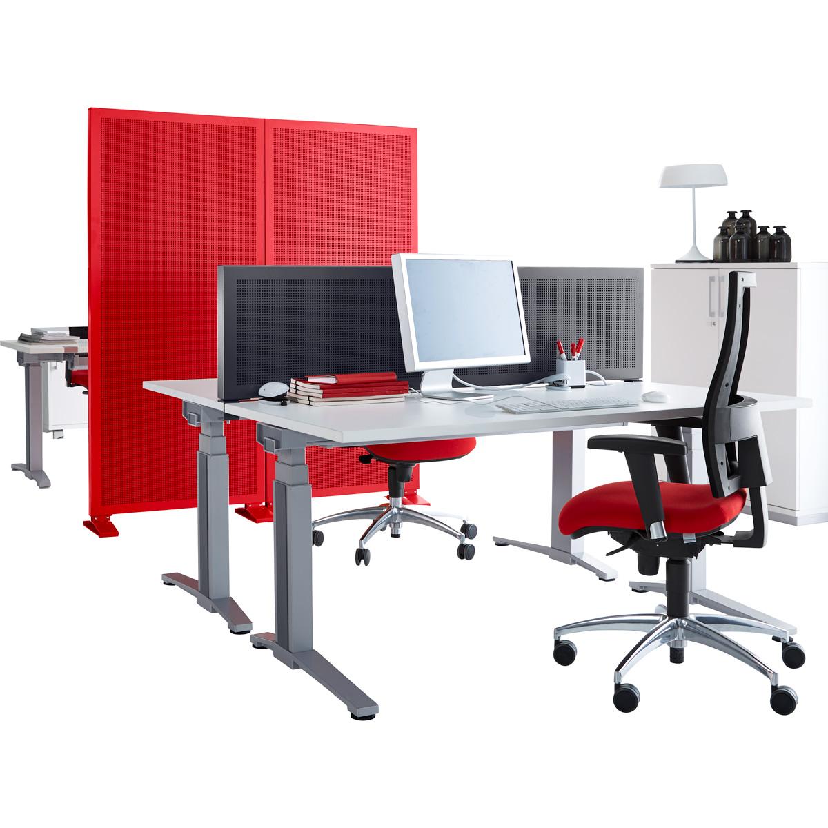 Tisch-Trennwand 1600×400 mm, Graphit – Schäfer Shop Fundgrube