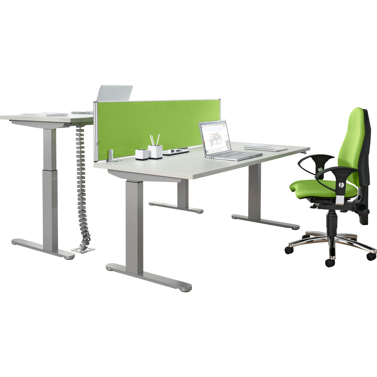 Elektrisch Höhenverstellbarer Schreibtisch 1600 x 800 mm, Lichtgrau ...