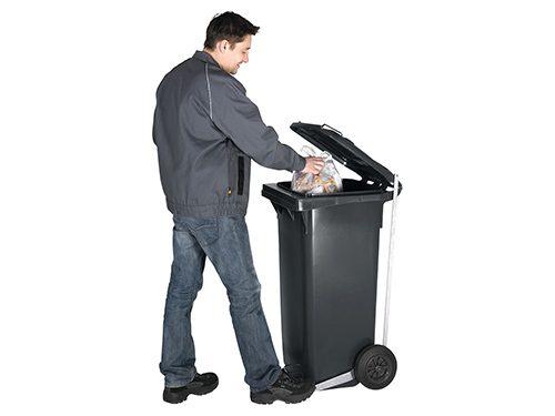 Mechanischer Fußpedal-Deckelöffner für Mülltonnen 120L