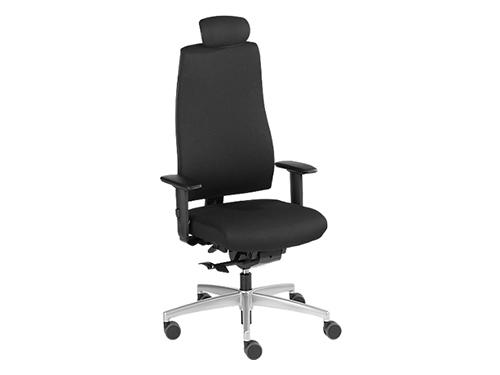 Bürostuhl GOAL 322G, Synchronmechanik, mit Armlehnen, Sitzzeit 8+ Stunden, mit Kopfstütze